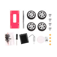 Wholesale pc Self assembly Mini Solar Powered DIY Car Kit Children Educational Toy Gadget Gift color Brand Hot Selling