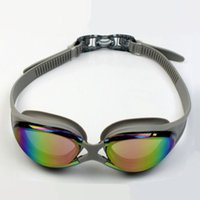 Wholesale Mens Womens Swimming Goggles Swim Safety Glasses Goggle Colorful Tinted Lens Adjustable Soft Silicone Head Strap