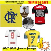 Wholesale soccer jersey 17 18 flamengo home away custom name number Top thai  AAA quality soccer uniforms football jersey clothing add patch ... f64b42199