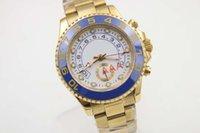 La venta al por mayor vende al por mayor la calidad original blanca llena blanca del reloj del reloj del bisel azul de cerámica mecánico automático del reloj que envía libremente