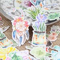 beautiful scrapbooking - Beautiful Watercolor Flower Dreamcatcher Plants Scrapbooking Stickers DIY Craft Sticker Pack Photo Albums Deco Diary Deco