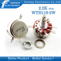 Wholesale WTH118 W A K ohm K2 Round Shaft Carbon Rotary Taper Potentiometer