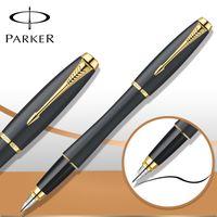 Fountain Pens art business school - 6 Colors Business Parker Urban Fountain Pen Matte Black Pen Gold Silver Clip Canetas Pen Stationery School Writing Supplies cm