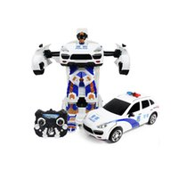 Wholesale Transformer RC Radio Remote Control High Speed Deformation Robot Car Electronic Vehicle Kids Children Toys Gifts