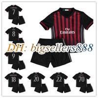 Boys ac boy - 16 kids AC Milan Home soccer Jersey kits BACCA KAKA BONAVENTURA L ADRIANO SUSO LAPADULA ABATE rd green away child Football Shirts