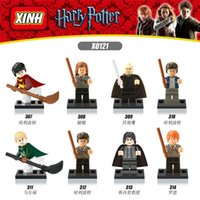 Plastics Unisex > 6 years old 8PCS X0121 Harry Potter Wand Hermione Lord Voldemort Draco Malfoy Professor Snape Ron Building Action Figure Block Christmas gift