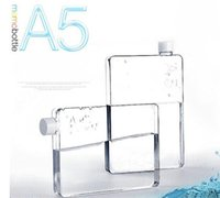 Wholesale Memobottle Clear A5 Memo Book Paper Bottle Flat Portable Water Bottle Cup Kettle high quality hot