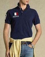 Wholesale Fashion Cotton men Clothing USA Italy France Flag Print Male Slim Polo t shirt Man T shirts Casual Shirt mens tops Sports tees