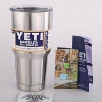 best steel stocks - In Stock Yeti oz Rambler Tumblers Bilayer Insulation Cups Cars Beer Mug Large Capacity Mugs Best Christmas Gift