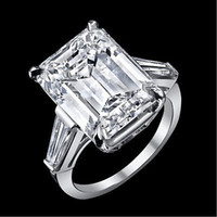 baguette engagement ring - 12 ct GIA J VS1 emerald cut baguette diamond engagement stone ring platinum