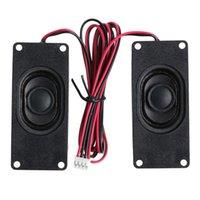 advertising rectangles - Drop shipping Advertising LCD TV Speakers Loudspeaker Ohm W Rectangle Speaker New