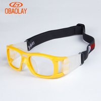 Wholesale OBAOLAY Color PC Lens Men Glasses Basketball Protective Goggles Outdoor Sptball Ski Glasses Myopia Cycling Glasses Prescription lenses Men