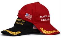 baseball cap making - 2016 Unisex Women Men Make America Great Again Baseball Hats Basketball Ball Hat Cap Stylish