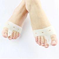 Wholesale 1pair pics Genuine New Special Hallux Valgus Bicyclic Thumb Orthopedic Braces To Correct Daily Silicone Toe Big Bone Bunion