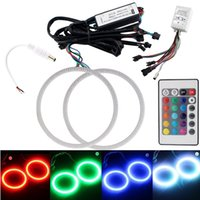 auto halo lights - RGB mm mm mm mm mm mm mm mm mm LED COB Auto Angle Eyes Rings Halo Flashing Remote kit Multi color RGB
