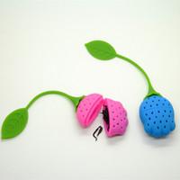 Wholesale Newest Design Flower Shape Silicone Tea Infuser Tea Strainer Silicone Tea Bag colorful Silicone tulip shape