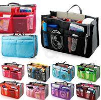 Wholesale Women Bag in Bag Fashion Makeup Cosmetic Bag Insert Handbag Organizer Bag Storage Sundry Bag Toiletry Tidy Pocket Washing Travel Tote KKA925