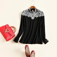 beads fashion clothes - Europe and the United States women s clothing in the spring of the new heavy hammer bead sexy long sleeved shirt joker