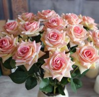 Wholesale Hot Artificial Flowers Color Roses Flower Head Wedding Decorating Flowers Party Valentine Day Flower Length cm