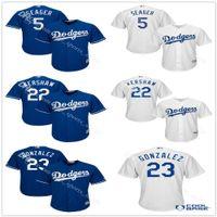 Wholesale Cool Base men s Los Angeles Dodgers Clayton Kershaw Adrian Gonzalez Corey Seager Baseball Jersey Majestic Royal Alternate Player Jerseys