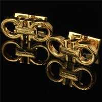 Wholesale The Letter flgm Metal Cufflinks Sleeve Nail Men Cuff link French s Cuff Color Luxury Cufflink White Color