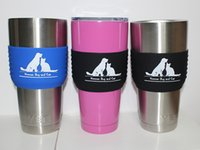 Wholesale Sleeve Grip for Yeti oz YETI RTIC Rambler Tumbler Other Cups Tumbler Silicone Beer Growler Sleeve Anti Slip Cup Mug Sleeves