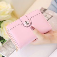 Wholesale Wallet Purse Female Short Folding Short Girls Purse Twice Percent Off Bit Change Card Bag Purse
