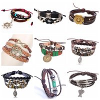 Mexican anchor fashion accessories - Fashion bracelet Designs Leather Bracelet Antique Love Cross Anchor Peach Heart Owl Bird Pearl Bronze Charm Bracelets accessories