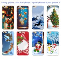 apple phone pictures - For iPhone S iphone Puls picture Christmas New Year Gifts Christmas tree Snowman Phone Cases TPU Hard shell