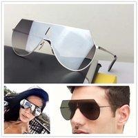 al por mayor lentes de abrigo-Las nuevas mujeres de la manera califican los sunglass del diseñador FD0139 las gafas de sol del piloto que cubren la lente del espejo el marco ULTRAVIOLETA del abrigo de la gafa envuelven el diseño el modelo unisex