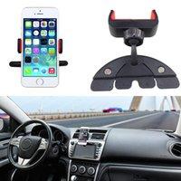 Venta al por mayor universal de coches de 360 grados de rotación de CD de montaje ranura teléfono titular de coches de estilo accesorios para iphone teléfono celular GPS