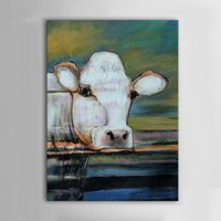 One Panel Oil Painting Abstract Large modern hand-painted oil painting abstract art deco cattle on the canvas Unframed