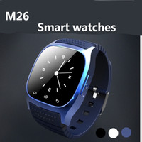 altimeter heart rate watch - 2016 new m26 Bluetooth Smart watch Wrist Watches With Altimeter For iPhone Samsung S6 Note HTC Android Phone In Gift Box