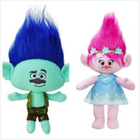 Wholesale Hot Sale Style cm Movies Cartoon Plush Poppy Branch Trolls Stuffed Toy Doll For Baby Best Gifts JC119