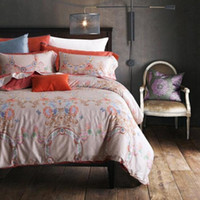 Wholesale 4 Piece Bedding Sets Classical Luxury Bed Sheets Soft Cotton Printed Flower Chinese Style High Quality Sheets Quilt Pillowcase