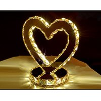 ac amber - Carola Original Version LED Table Lamp Crystal Wedding Lighting Heart shaped Lamp With LED Light Source Amber crystal
