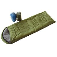 Rectangular backpacking lunch - Camping sleeping bag Outdoor camping thermal envelope with hood cotton sleeping bag Lunch break light sleeping bag