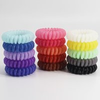 Wholesale Middle Size Hair Scrunchie Popular Korean Candy Color Telephone Wire Style Elastic Band Rope or Bracelet for Women