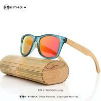 Man bamboo for shade - KITHDIA Natural Wood Sunglasses for men Designer Brand bamboo sunglasses UV400 Lens Shade Retail Square Oculos De Sol