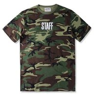 army staff - TOP Justin Bieber FEAR OF GOD STAFF Purpose Tour MEN Short Sleeve T Shirt hiphop Army Green Camouflage Cotton Tee S XL pigalle supr