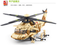 Wholesale The new Luban Black Hawk helicopter toy airplane model military blocks puzzle blocks