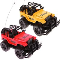 Wholesale 1 Drift Speed Radio Remote Control RC Jeep Off Road Vehicle and Headlight Random Color