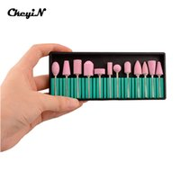 Wholesale CkeyiN Styles quot Nail Drill Bit Kits Ceramic Nail Polishing Grinding Head For Nail Art Drill File Cutter Manicure Machine