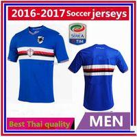 Wholesale Thai quality Sampdoria home jerseys men Sampdoria shirts Customzie Name Number