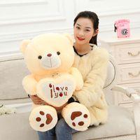 Wholesale Teddy Bear Soft Doll Plush Toy Love Bear Stuffed Animal Large Creative Bear Hold the Heart birthday gift