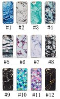 art cases - phone shell marble painted phone shell relief soft shell TPU creative art mobile phone sets
