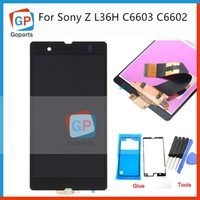 Wholesale Repair Replacement LCD Touch Screen Digitizer Display Assembly Sticker Tools For Sony Xperia Z L36h L36I C6606 C6603 C6602