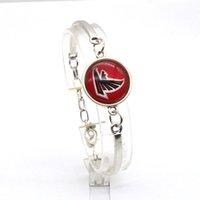 atlanta falcons jewelry - 2017 New Fashion Bracelet Bangle Football Atlanta Charms Falcons Football Team Sport Charms Bracelet for Women Fan Jewelry Bracelet SP064
