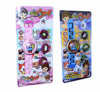 Wholesale DX Yo kai Watch Japan Anime DX Yokai Watch Lighting sound watch Medal Baby gifts Insert the card sound