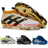 Wholesale 2017 New mens Women ace soccer cleats kids soccer shoes ace purecontrol fg high ankle football boots Youth no lace shoes Stellar Pack